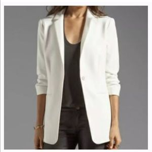 Elizabeth and James Heather Crepe Blazer in Ivory